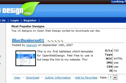 XHTML Template BlueBusiness01 @ OpenWebDesign.org