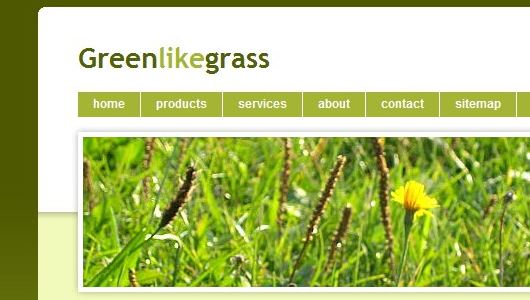 Greenlikegrass CSS Template Preview