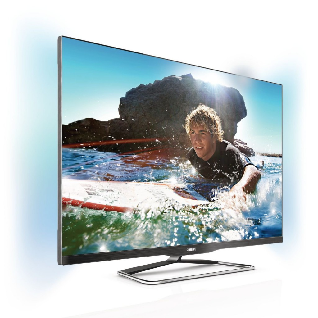 Philips 47PFL6907K/12 119 cm (47 Zoll) Ambilight 3D LED-Backlight-Fernseher, EEK A+ (Full-HD, 600Hz PMR, DVB-C/-T/-S, CI+, Smart TV Premium, WiFi) schwarz - metallic