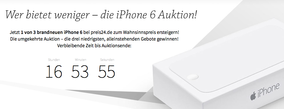 iPhone 6 Rückwärtsauktion
